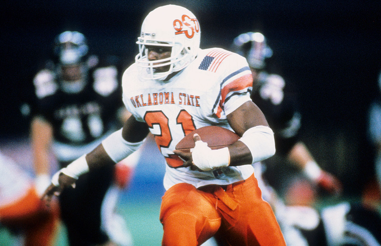 He played behind Thurman Thomas but when he got his chance ... wow. In 1988 Sanders set 34 NCAA records — he led the nation in rushing (2,628), all-purpose yards (3,250) and scoring (234 points) — and won the Heisman Trophy, Walter Camp and Maxwell Awards. — Runner-up: Desmond Howard, WR/KR, Michigan (1989-91)