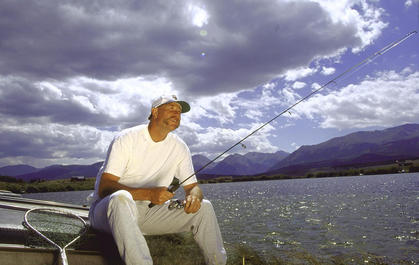 The 2008 Hall of Fame inductee fishes near Colorado Springs in August 1994, during the last season of his career. Gossage won 124 games and recorded 310 saves during his career.