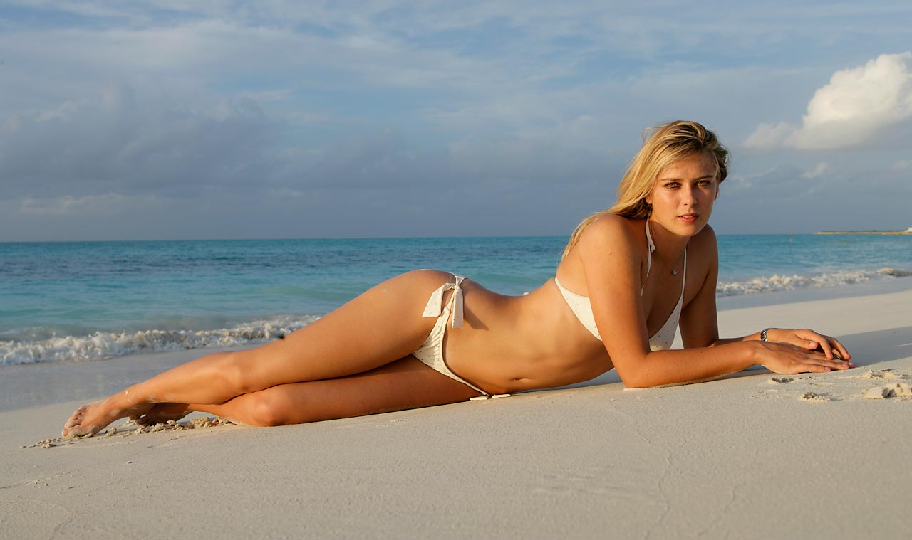 With the gorgeous Turks and Caicos beach all around her, Sharapova gazes into the camera for the 2006 edition of the SI Swimsuit issue.