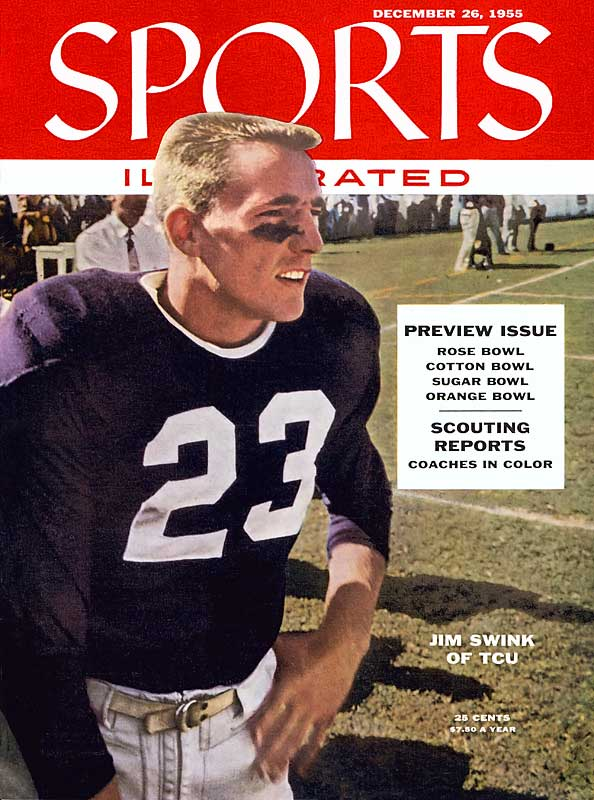 A two-time All-America, Swink was the nation's leading scorer and second-leading rusher as a junior in 1955. He scored a school-record 26 points in a 47-20 rout over Texas. — Runner-up: Leroy Keyes, RB, Purdue (1966-68)