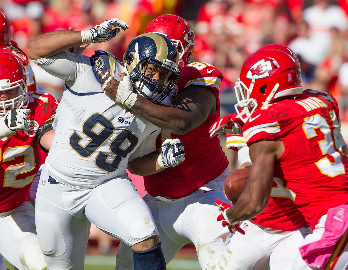 The Rams don't have anybody worthy of consideration on offense, but the defense is absolutely loaded. While Robert Quinn is the easy answer, the correct choice is Aaron Donald. He racked up nine sacks and a pair of forced fumbles as a 4-3 defensive tackle last season, and on the same line as Nick Fairley, Chris Long and Quinn, Donald will be a destroyer of worlds for years to come. Honorable mention: Robert Quinn, James Laurinaitis.