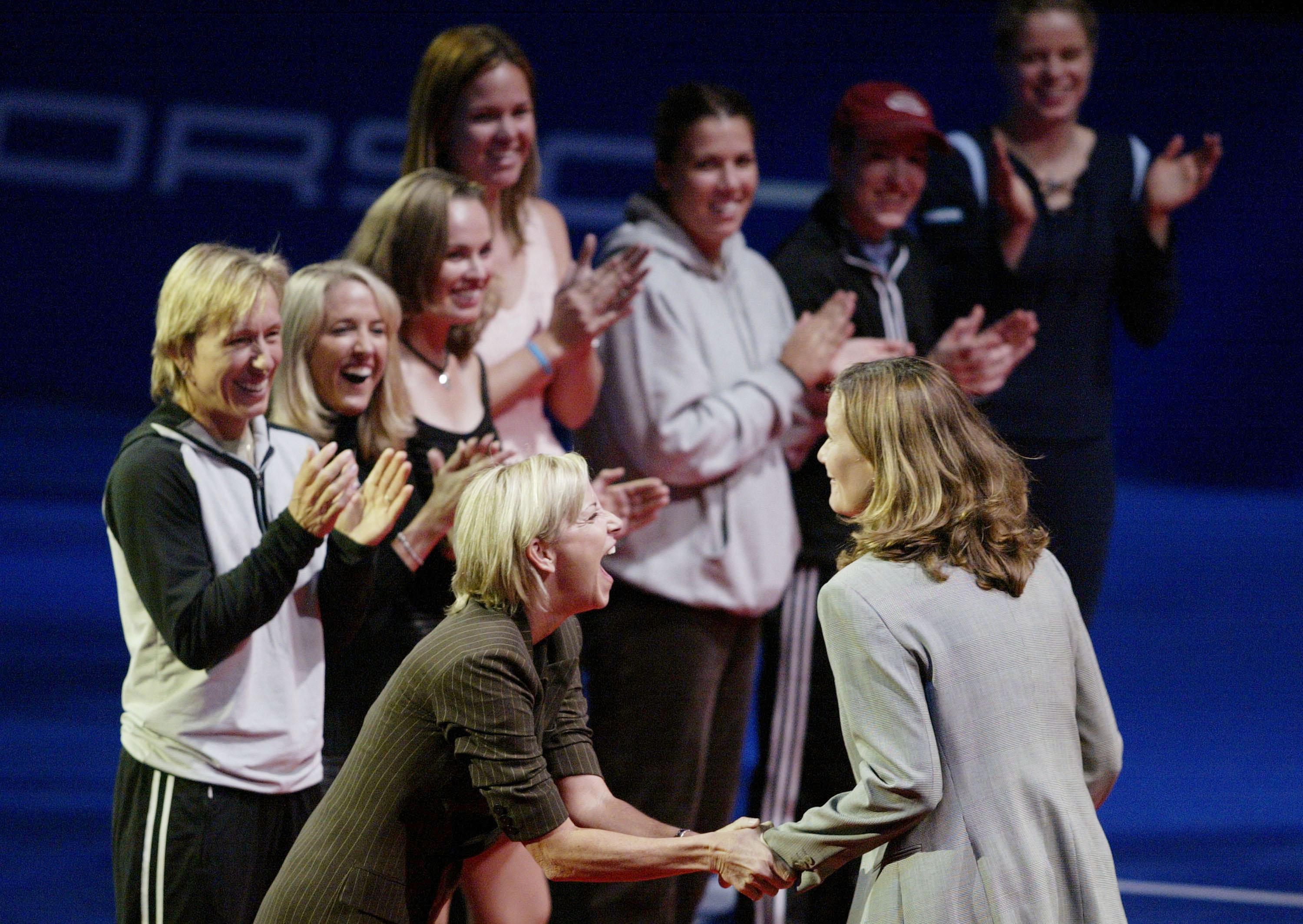 The WTA Finals has always served as a reunion of the game's legends.