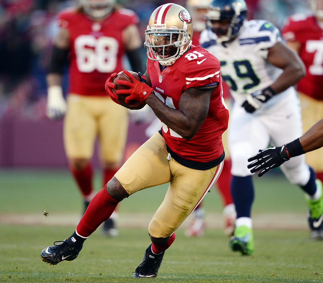 Last year, this would have been impossible because of the litany of candidates. This year? It's like finding a needle in a haystack.  At 34 years old, Boldin caught 83 passes for 1,062 yards and five touchdowns, even with Colin Kaepernick at the helm. He's a terrific run-after-the-catch receiver, not because of speed but heart and strength. He's also one of the best clutch receivers in the game. Honorable mention: Eric Reid, Joe Staley.