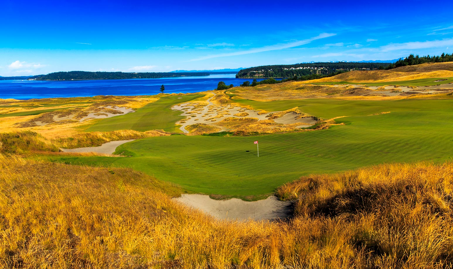 The fourth hole at Chambers Bay, known as 'Hazard's Ascent', was a par 5 during the 2010 U.S. Amateur, but will play as a par 4 during the U.S. Open.