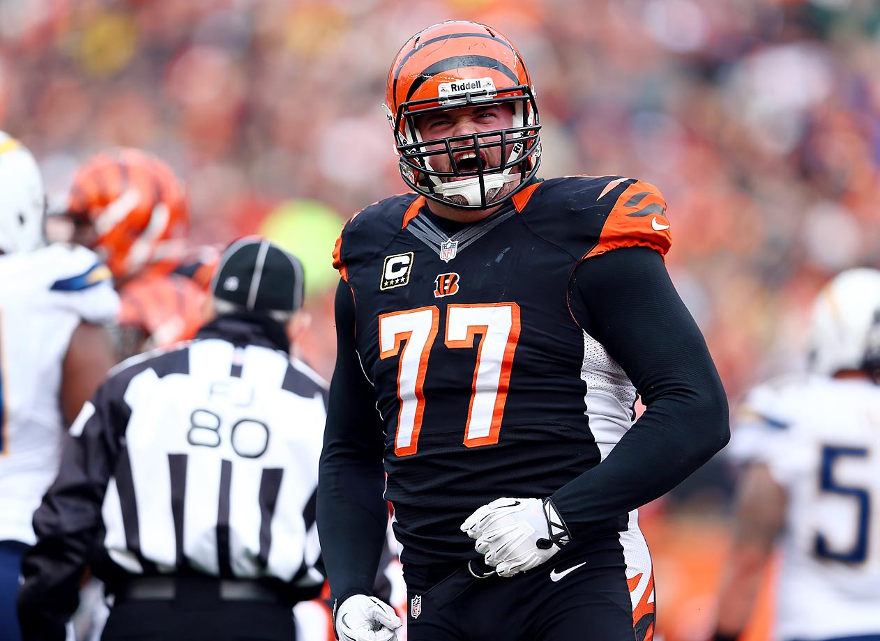 Wherever you put Andrew Whitworth (pictured), the guy just gets it done. The 33-year-old 10-year veteran has logged time at tackle and guard and can play both positions with equal aplomb. Right guard Kevin Zeitler is a physically dominant player who could eventually become the linchpin of the unit if he can stay healthy. Center Russell Bodine and left guard Clint Boling are coming along nicely.