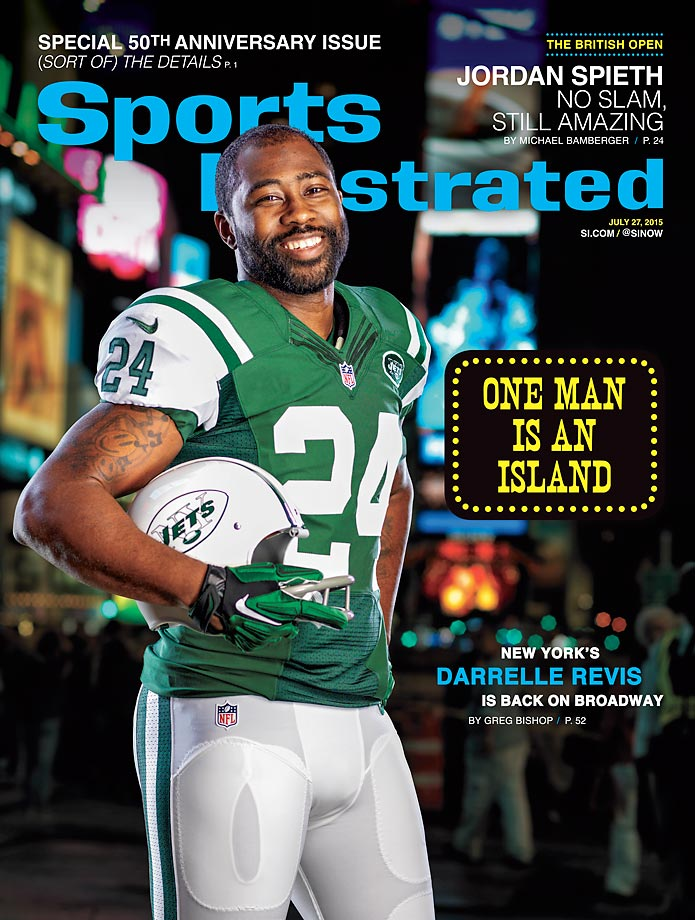 July 27, 2015 | New York's Darrelle Revis is back on Broadway, recreating the iconic Joe Namath SI cover.