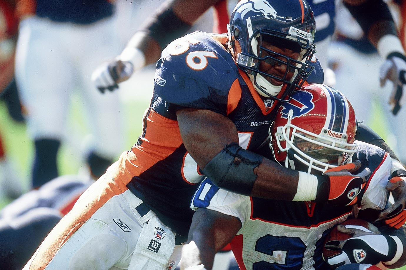 Wilson played eight seasons with Denver and was the heart and soul of the defense until his career ended prematurely after sustaining a neck injury in 2006. His Credentials: Five-time Pro Bowl selection, 580 career tackles and 21.5 sacks. Others in Consideration: Todd Heap (2001, Ravens), Nnamdi Asomugha (2003, Raiders), Greg Olsen (2005, Bears)