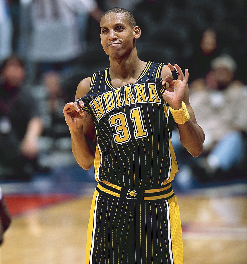 For several years, Reggie Miller was the NBA's all-time leader in career three-pointers drained. Miller still ranks second, only behind Ray Allen. A five-time All-Star, Miller brought it in the postseason as well, most notably his clutch eight points in nine seconds to beat the New York Knicks in 1995. He led the Pacers to the 2000 NBA Finals as well. — Runner-up: Shawn Marion