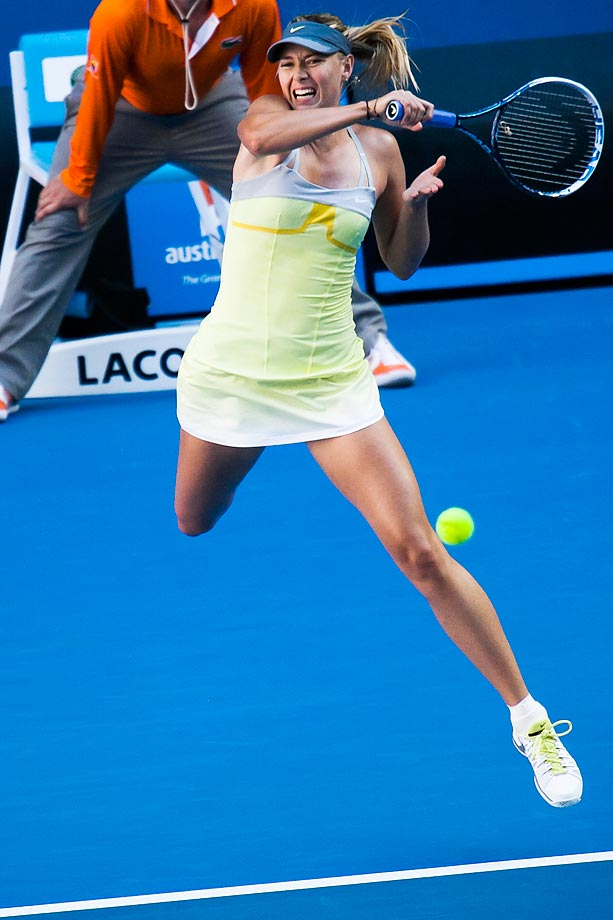 Sharapova during Day 3 of the Australian Open.
