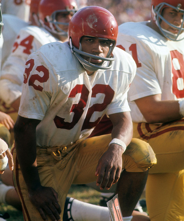 Before the court cases and eternal infamy, Simpson was a once-in-a-generation college running back. In 1967 he led the country in rushing with 1,451 yards on 266 carries and 11 touchdowns. The following year — en route to winning the Heisman Trophy — he ran for 1,709 yards and 22 touchdowns while leading USC to a 9-0-1 regular season record. — Runner-up: Johnny Lujack, Notre Dame (1943, 46-47)