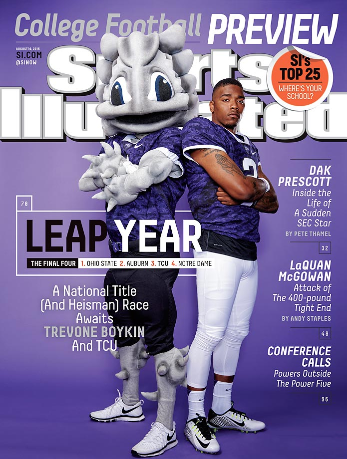 August 10, 2015 | TCU narrowly missed the College Football Playoff last season, but Heisman candidate Trevone Boykin and the Horned Frogs are primed for a title run this year.