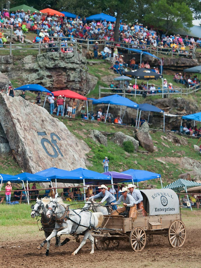 """The 2014 Classic Wagon Champion """"Kowbell"""" during its final run on Sunday."""
