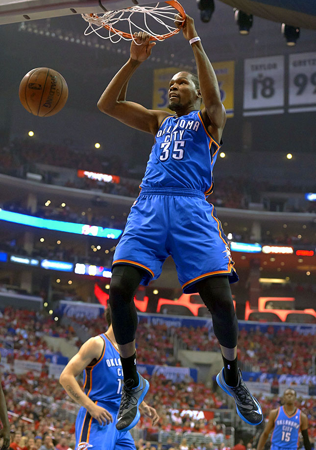 There's a reason the entire NBA is holding its collective breath awaiting the 2016 offseason. Durant will be the biggest potential free agent since LeBron James in 2010. He's a six-time All-Star, a four-time scoring leader and has an MVP to his name. Here's to hoping he can return seamlessly after three foot surgeries. — Runner-up: Rudy LaRusso