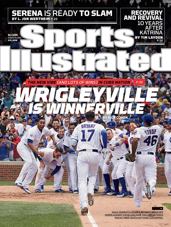 August 31, 2015 | Cubs' resurgence, Wrigley optimism featured on this week's regional SI cover.