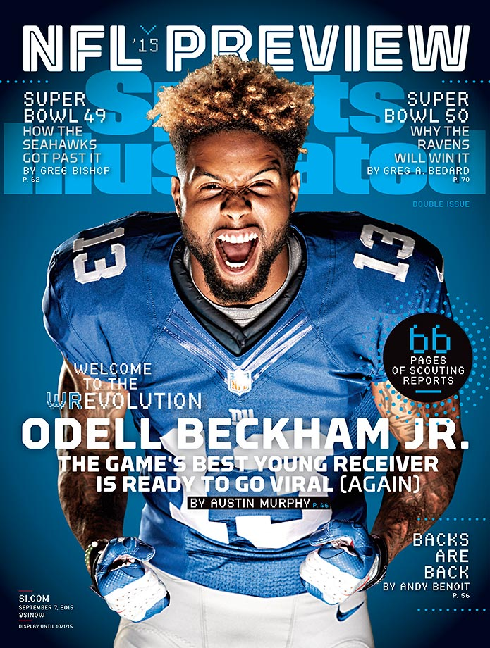 September 7, 2015 | New York Giants wide receiver Odell Beckham Jr. headlines a list of five players featured on regional covers of the NFL Preview issue.