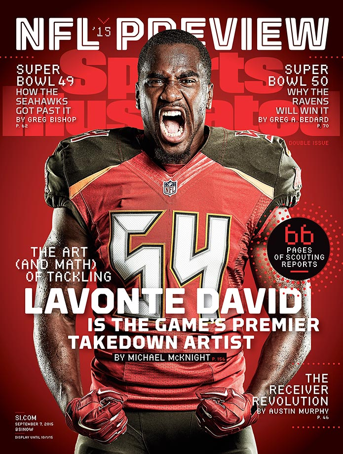 September 7, 2015 | Buccaneers linebacker Lavonte David headlines a list of five players featured on regional covers of the NFL Preview issue.