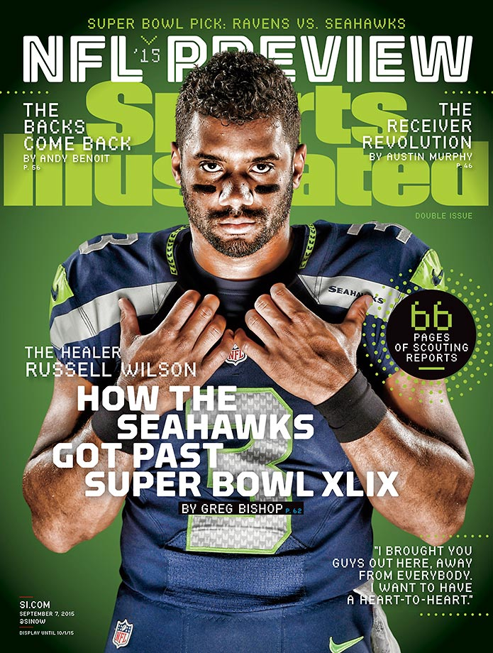 September 7, 2015 | Seattle quarterback Russell Wilson headlines a list of five players featured on regional covers of the NFL Preview issue.