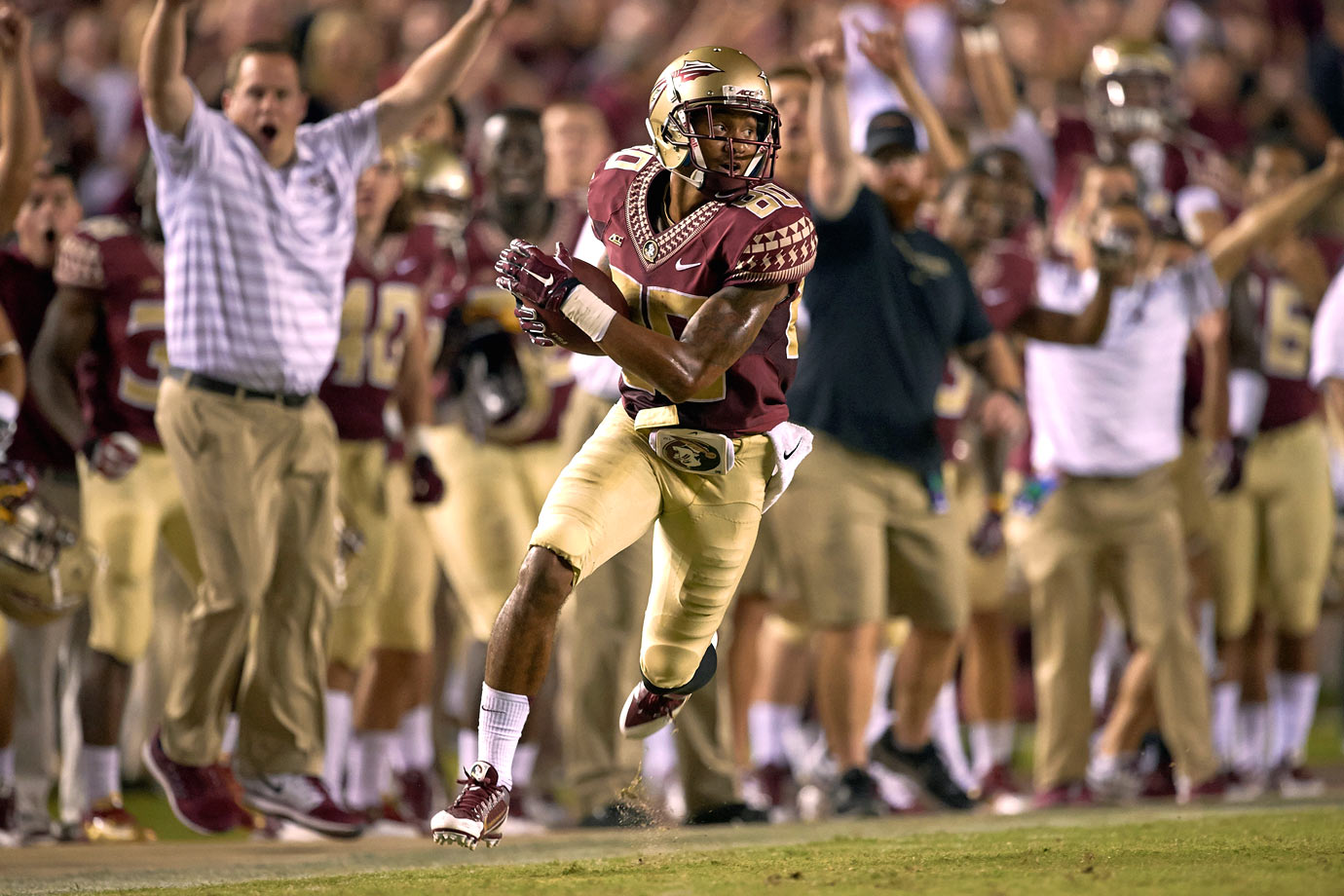 Greene set the school records for catches and receiving yards in a highly productive career for the Seminoles.