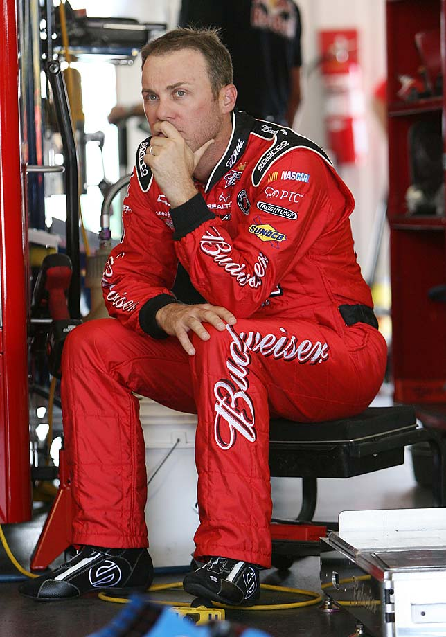 A pensive Harvick at Pocono Raceway in 2011.
