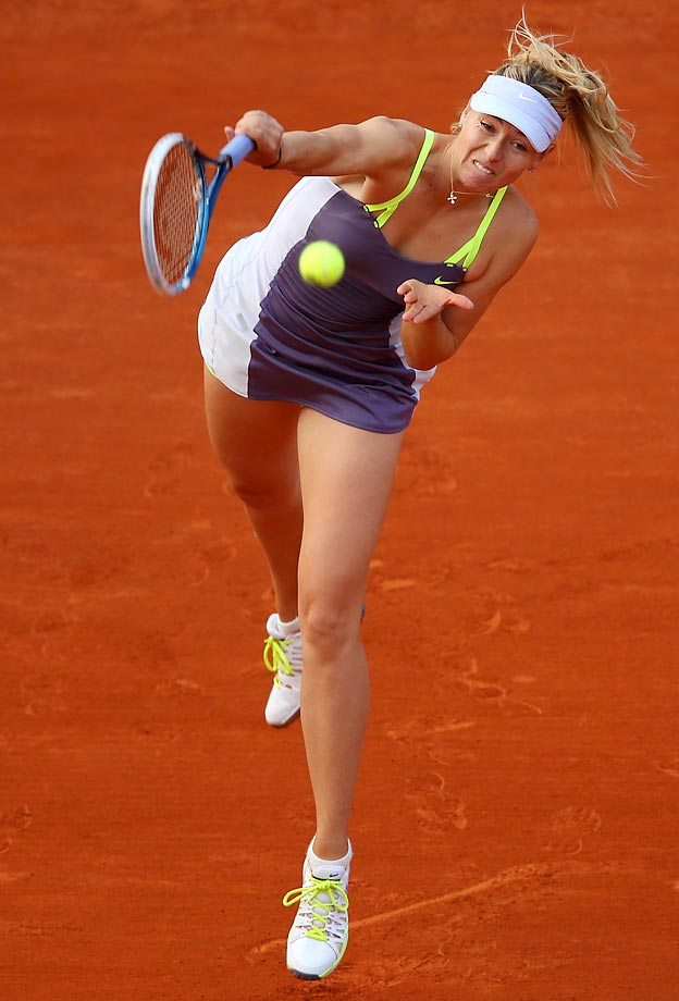 Sharapova defeated 42nd-ranked Hsieh Su-wei of Taiwan in her first-round match at the French Open, 6-2, 6-1.