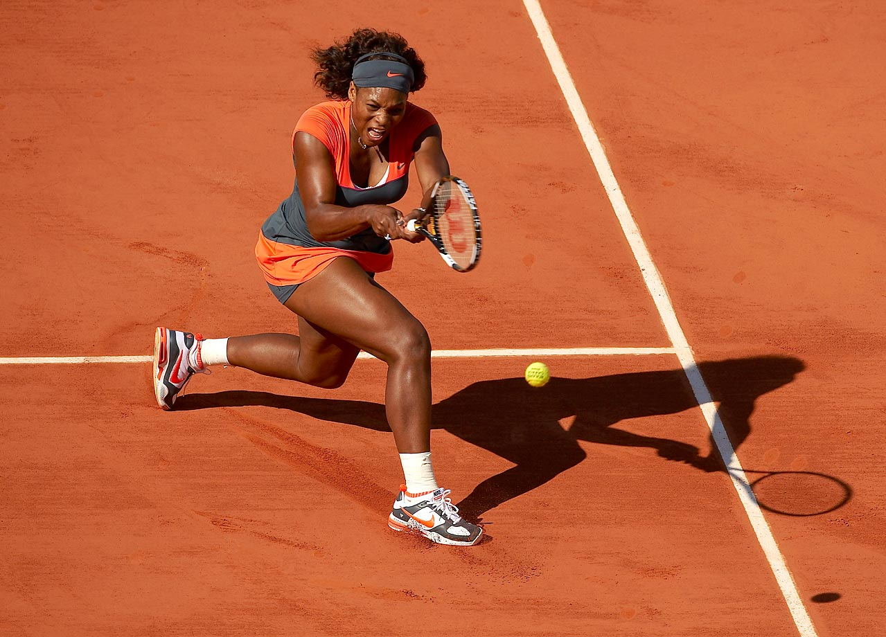 Serena had an 18-match Grand Slam tournament winning streak snapped at the 2009 French Open.