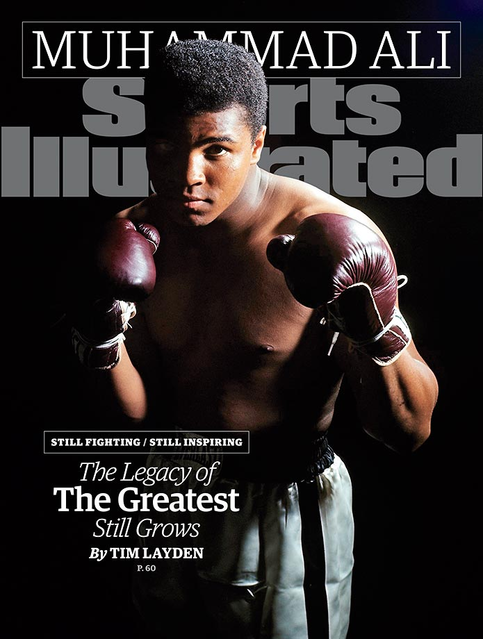 "October 5, 2015 | Muhammad Ali is honored on the cover this week to celebrate the magazine's Sportsman Legacy Award. The Legacy Award was created in 2008 to honor former athletes and sports figures who embody ideals of leadership, sportsmanship and philanthropy as vehicles for changing the world. The renaming of the award was announced earlier this week, and Ali will be recognized at a dedication ceremony at the Muhammad Ali Center in Louisville, Ky., on Thursday. That date, Oct. 1., also marks the 40th anniversary of Ali's legendary ""Thrilla in Manila"" defeat of Joe Frazier."