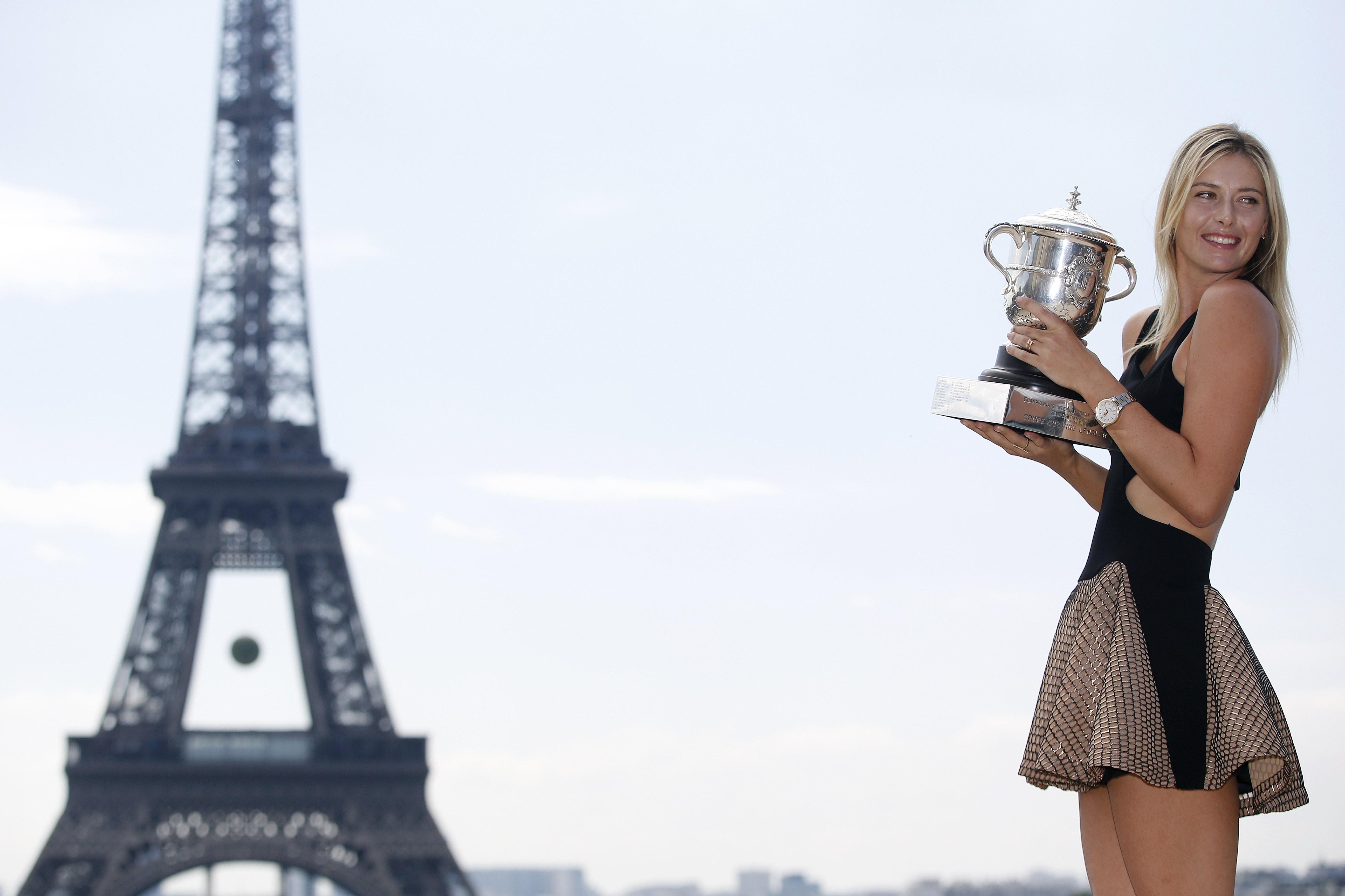 Sharapova's French Open glamour shot.