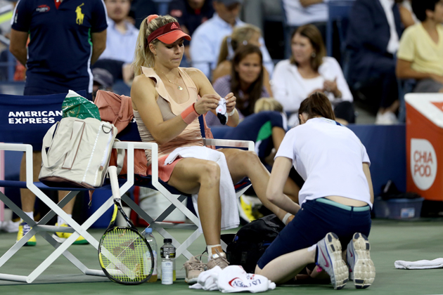 Kirilenko called for a trainer while playing against Sharapova on Monday night.
