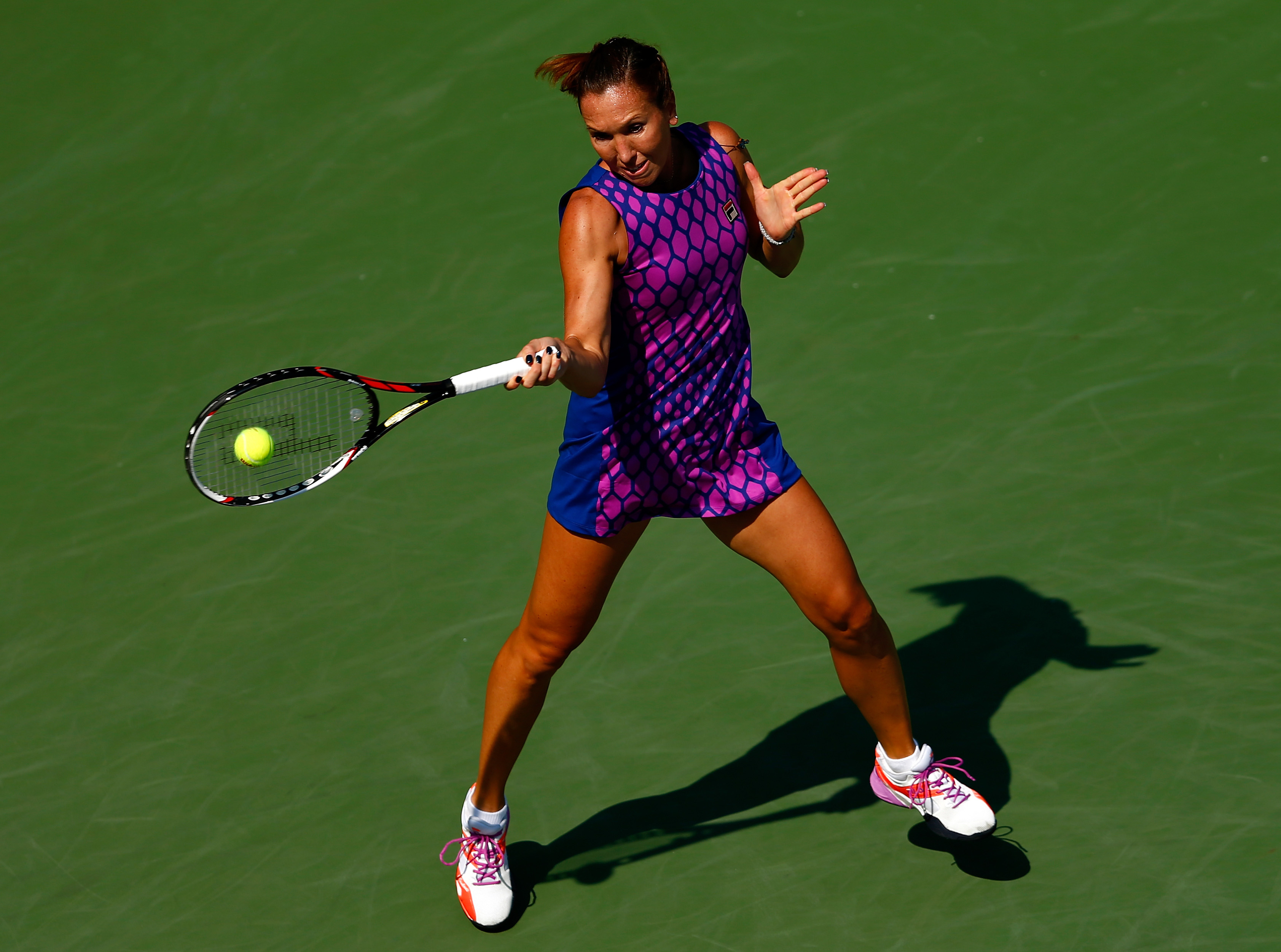 Jankovic's baggy honeycomb dress from Fila at the U.S. Open.