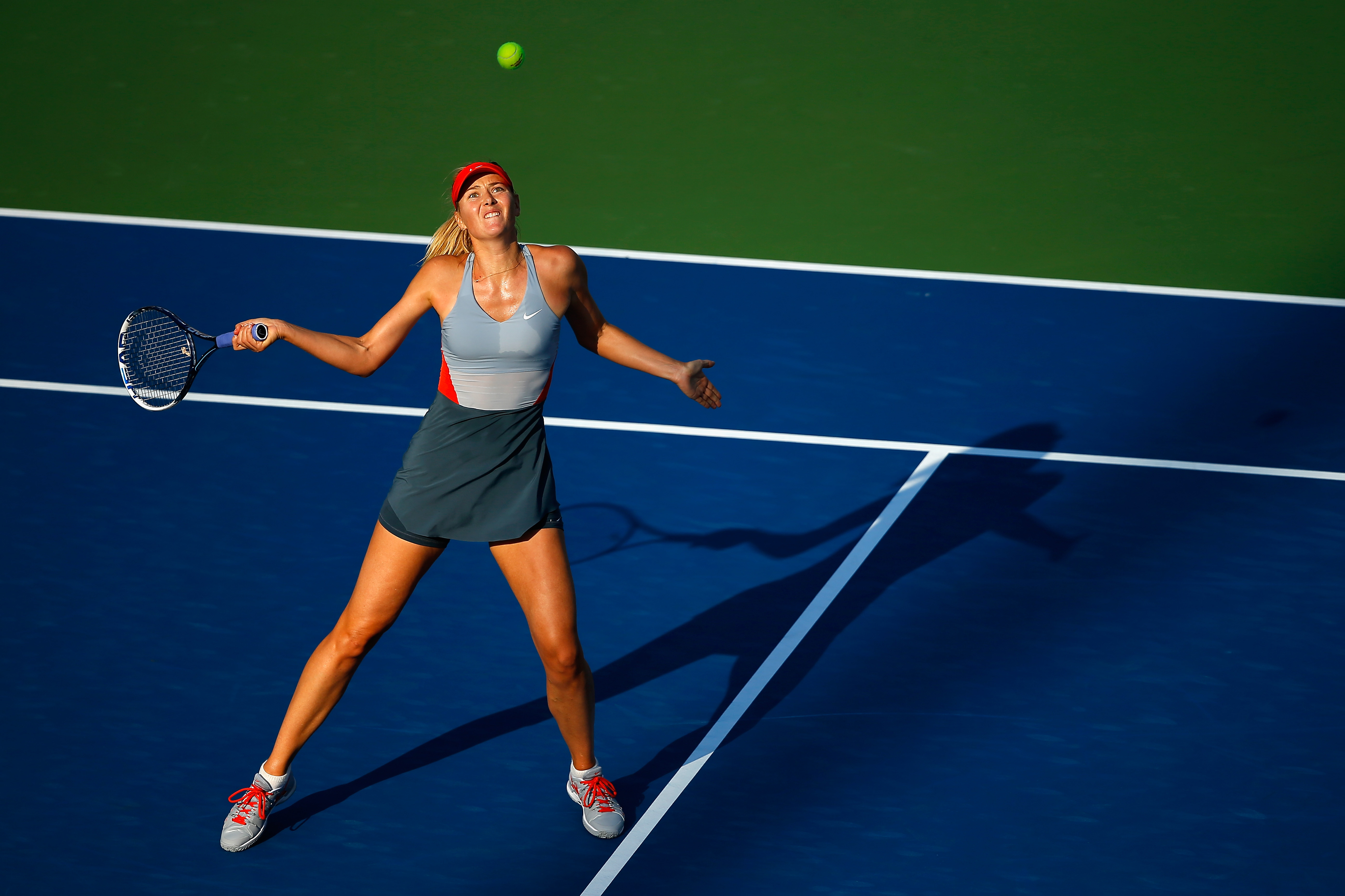 We weren't fans of her night dress, but Sharapova's Nike day kit had a chic modern cut.