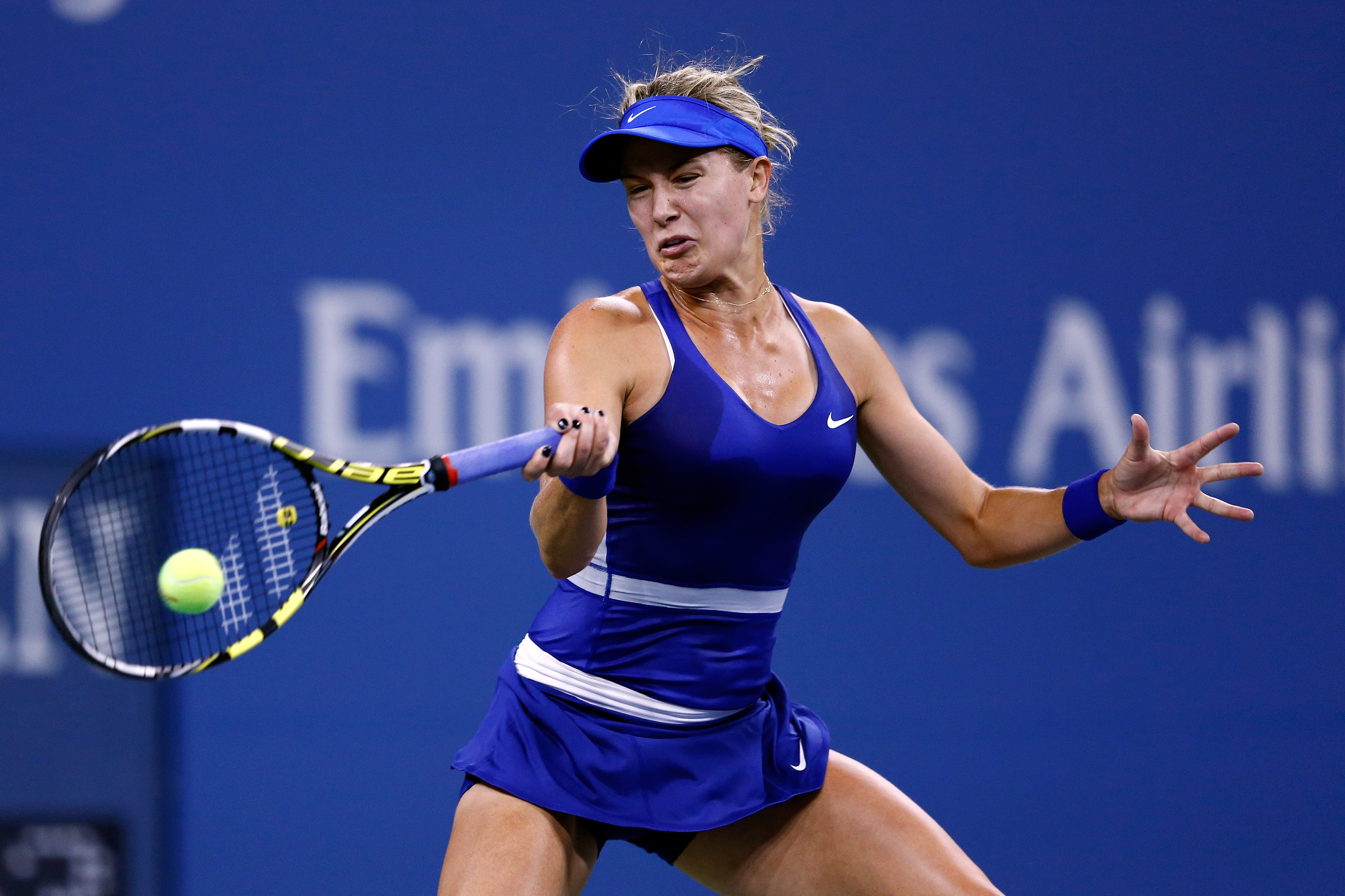 Bouchard's little blue Nike dress was simple yet distinctive.