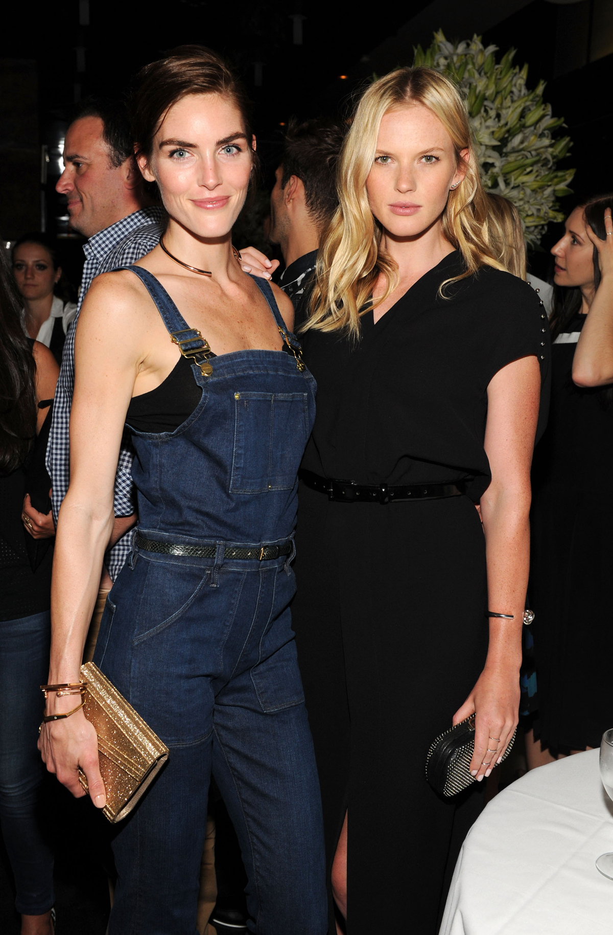 Hilary Rhoda and Anne V at Jennifer Fisher store opening