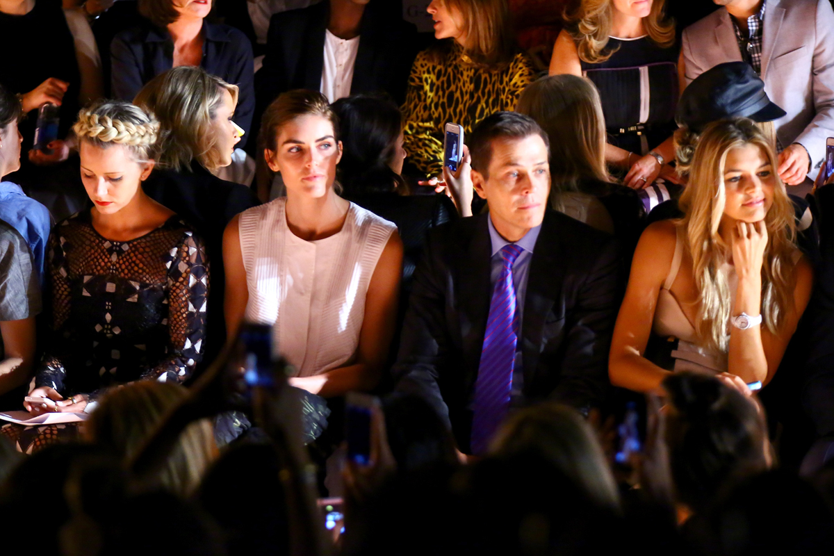 Hilary Rhoda and Swimsuit 2015 contender Kelly Rohrbach (far right) at BCBG Max Azria