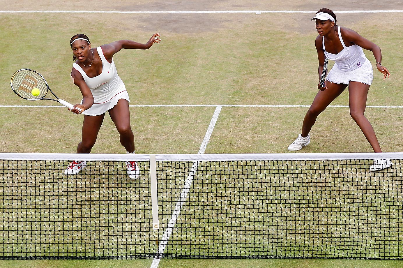 Serena and Venus, the two-time defending doubles champions at Wimbledon, lost in the quarterfinals in 2010. Serena cut her foot on a piece of glass a few days afterwards and missed the rest of the season.