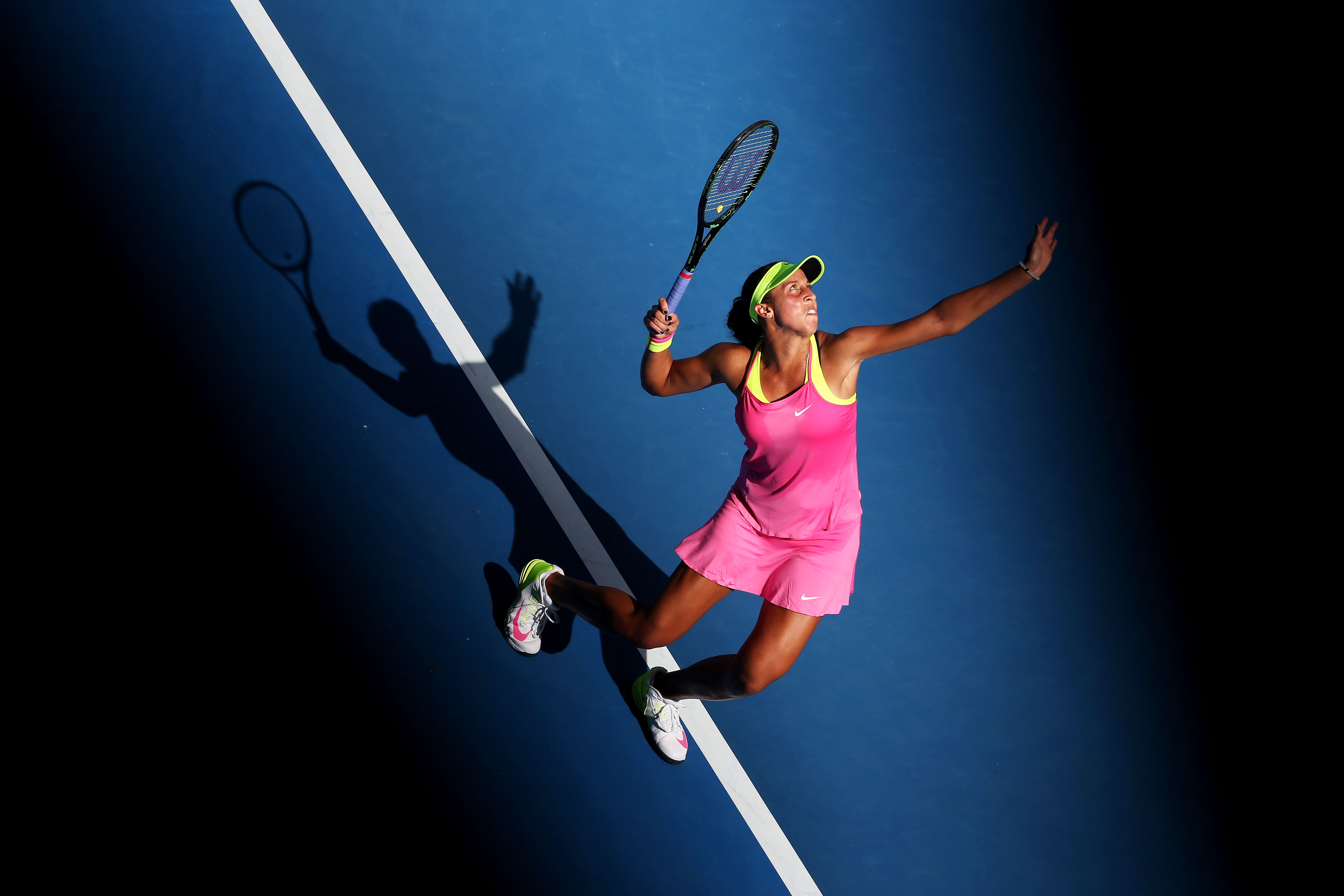 Just like Bouchard, Nike made the right choice with this hot pink number.