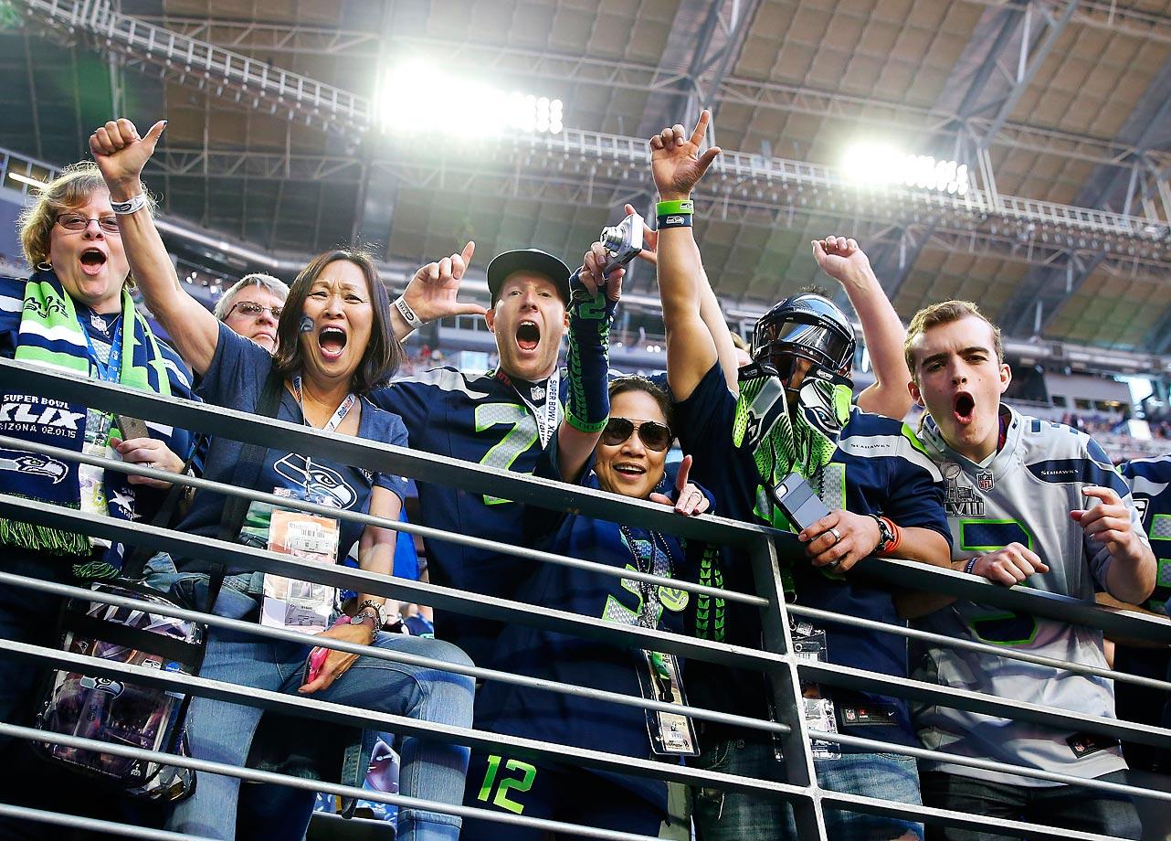 Fans at the Super Bowl.
