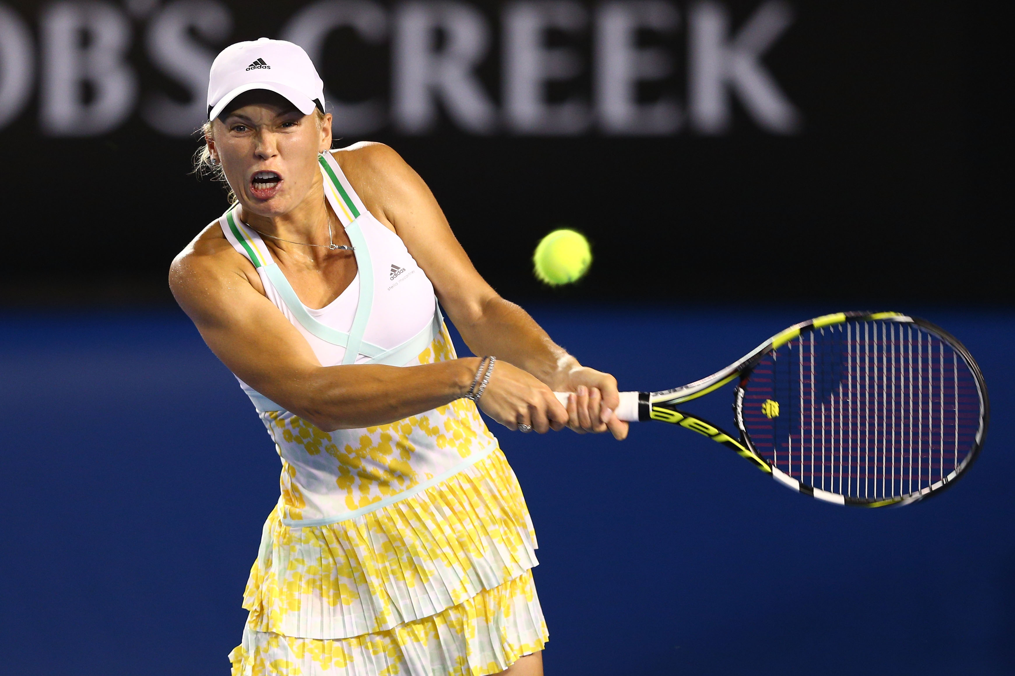 Adidas donned Wozniacki in tea towel -- and it worked -- at Australian Open.
