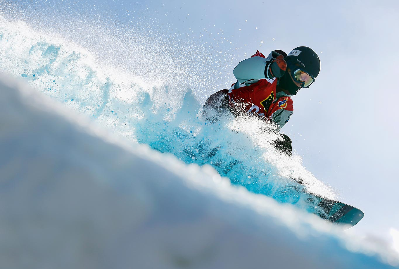 Anthony Stefanizzi of Canada competes during qualifying for the FIS Snowboard World Cup 2015 Men's Slopestyle during the U.S. Grand Prix.