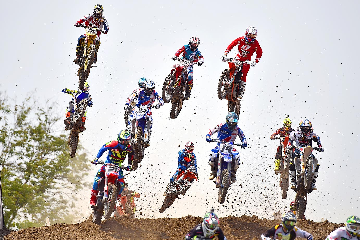 MXGP riders race at the MXGP in Bangkok.