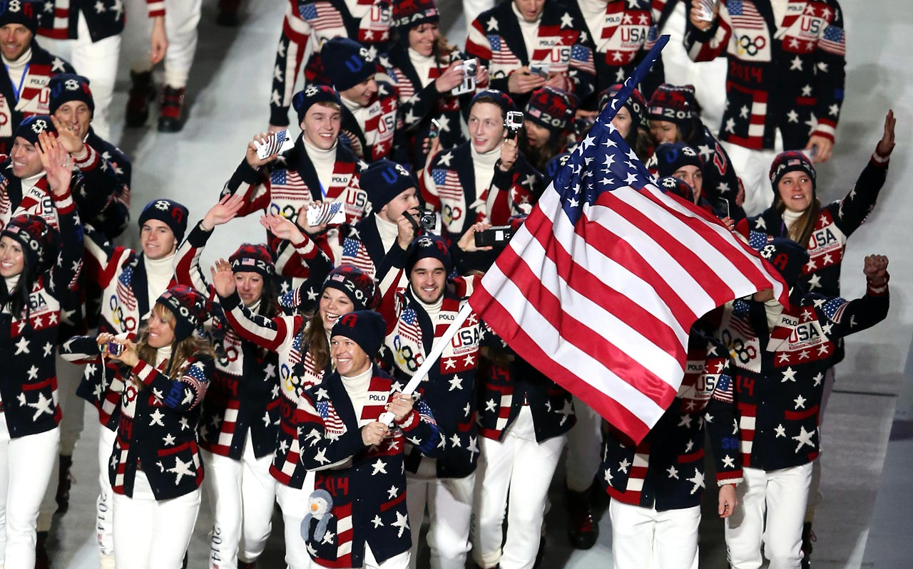 The U.S. delegation was led by flag-bearer Todd Ludwick.