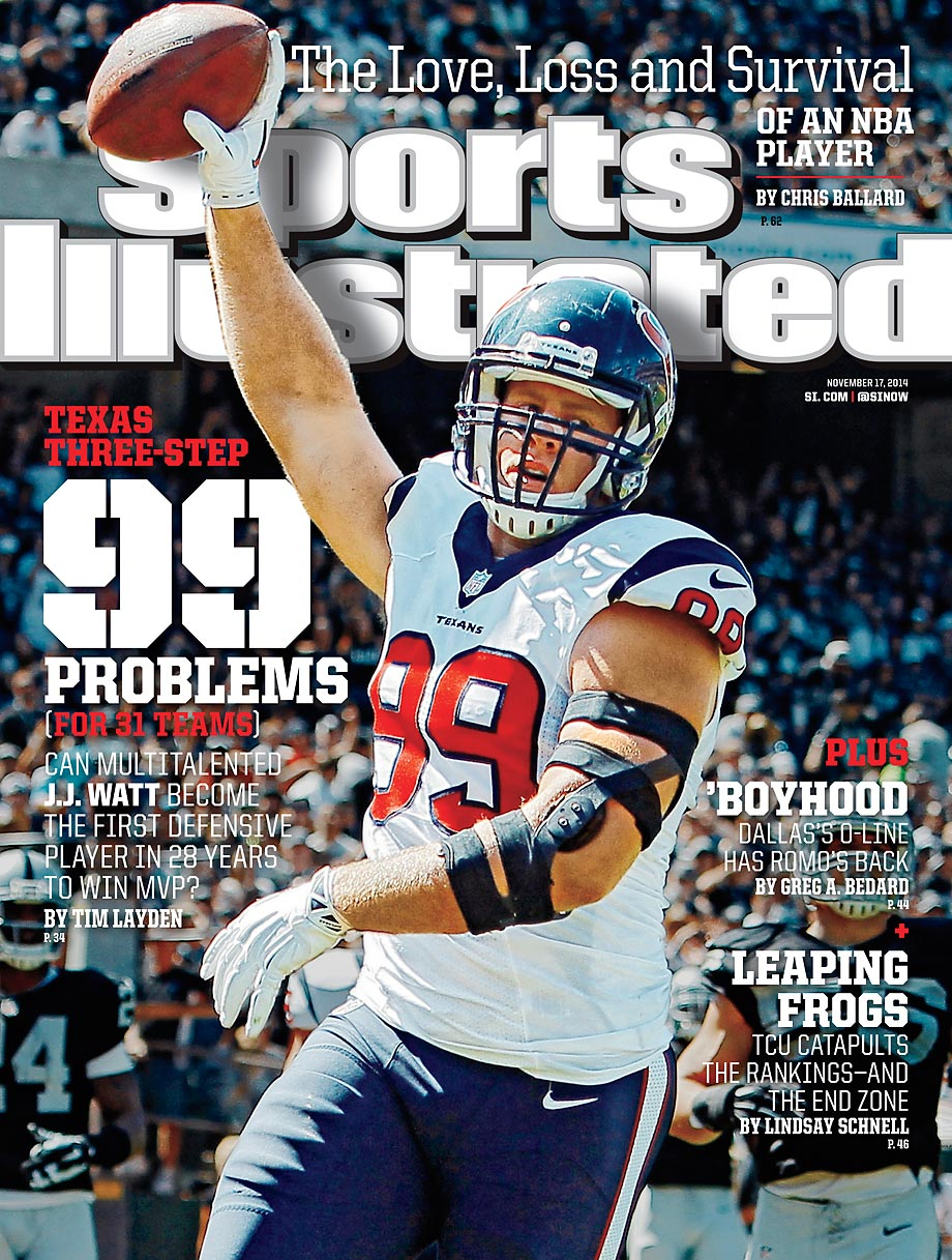 November 17, 2014 | The NFL's most dominate defensive player, Texans All-Pro J.J. Watt, wants to focus on nothing else but the next play and piling up victories.