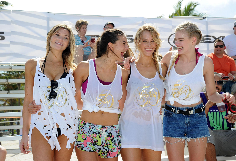 From left: Samantha Hoopes, Lauren Mellor, Hannah Ferguson, Valerie van der Graaf, Launch Week 2014