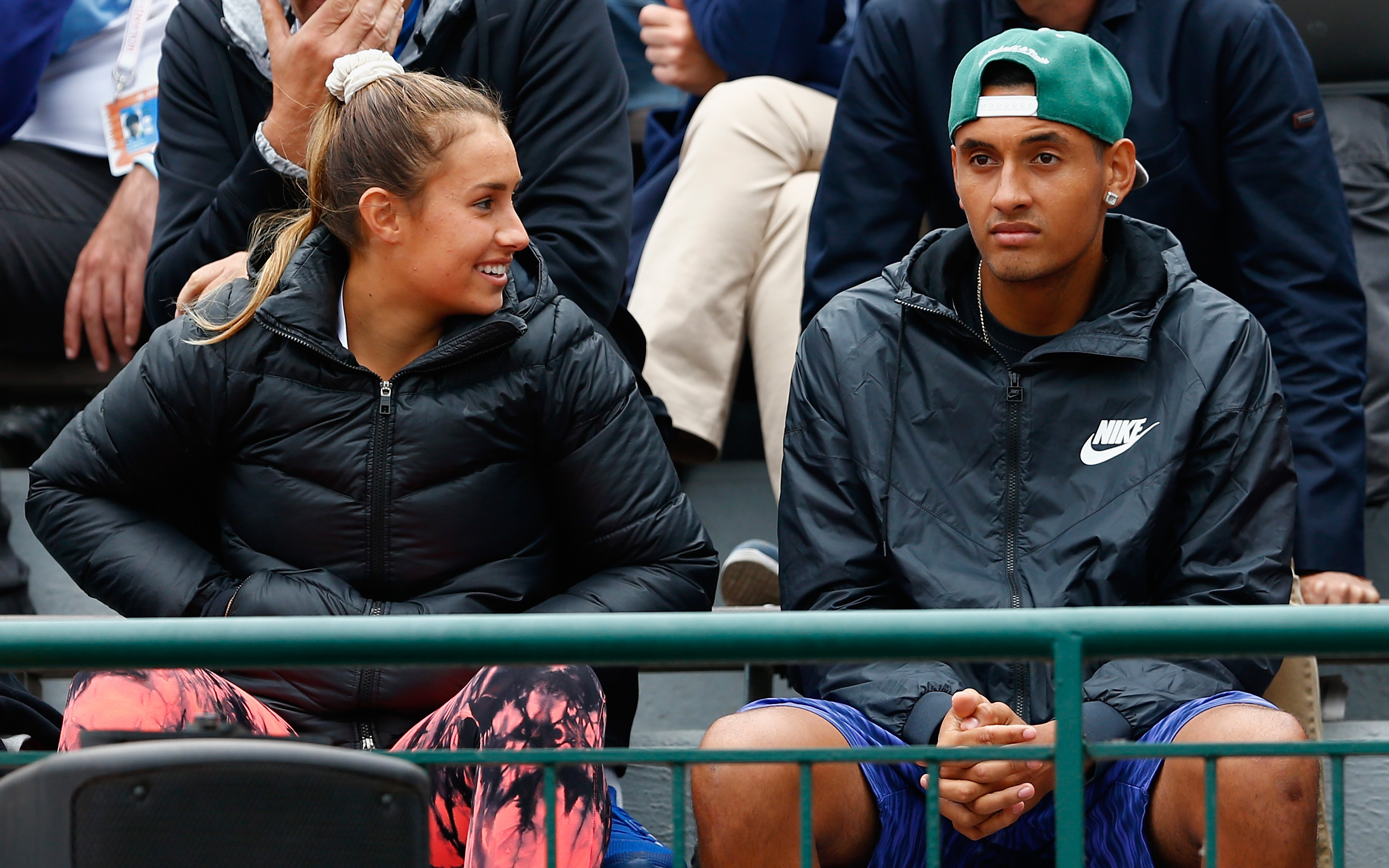 After getting a walkover, Kyrgios watched the Tomic-Kokkinakis match.