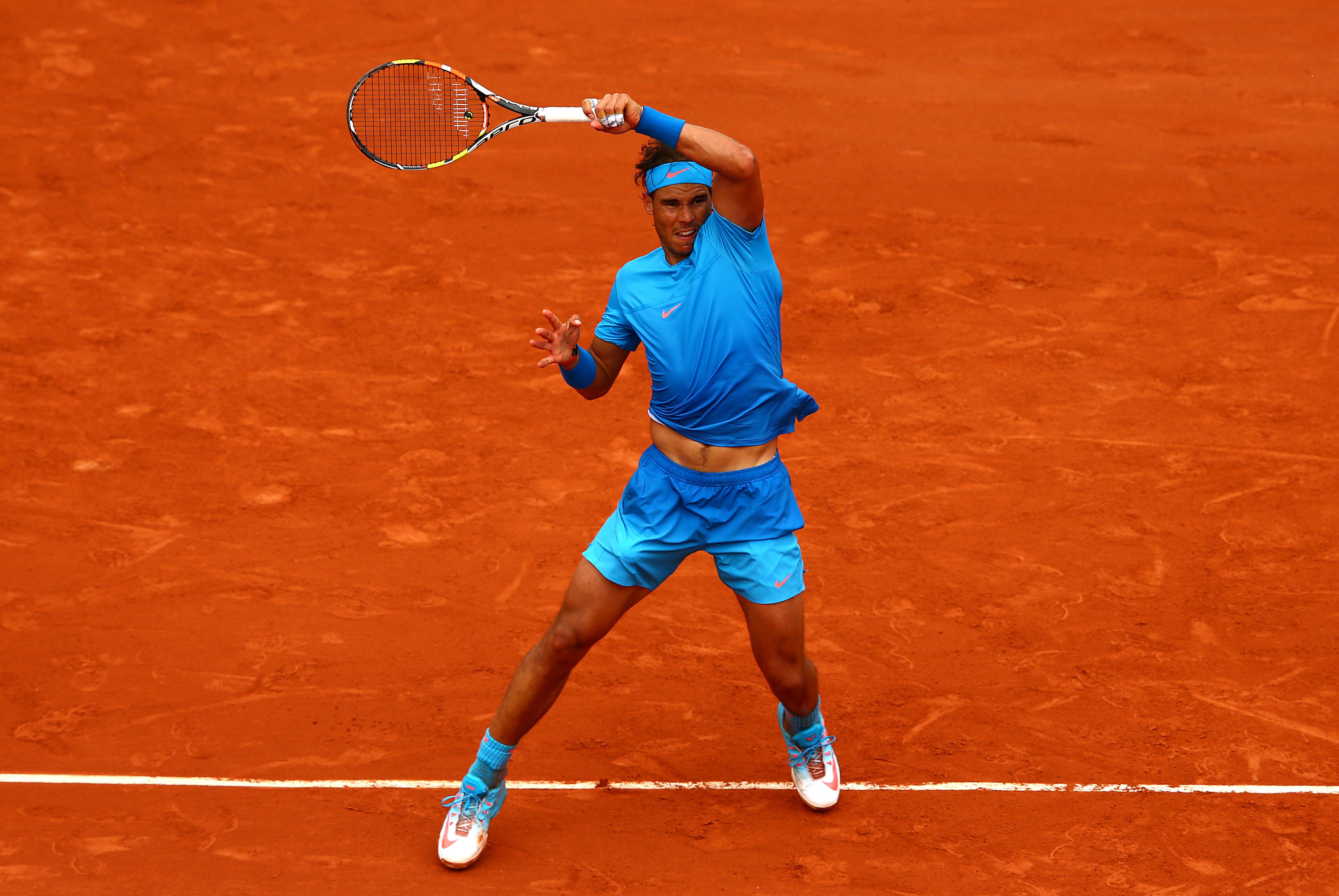 Nadal beat Almagro 6–4, 6–3, 6–1.