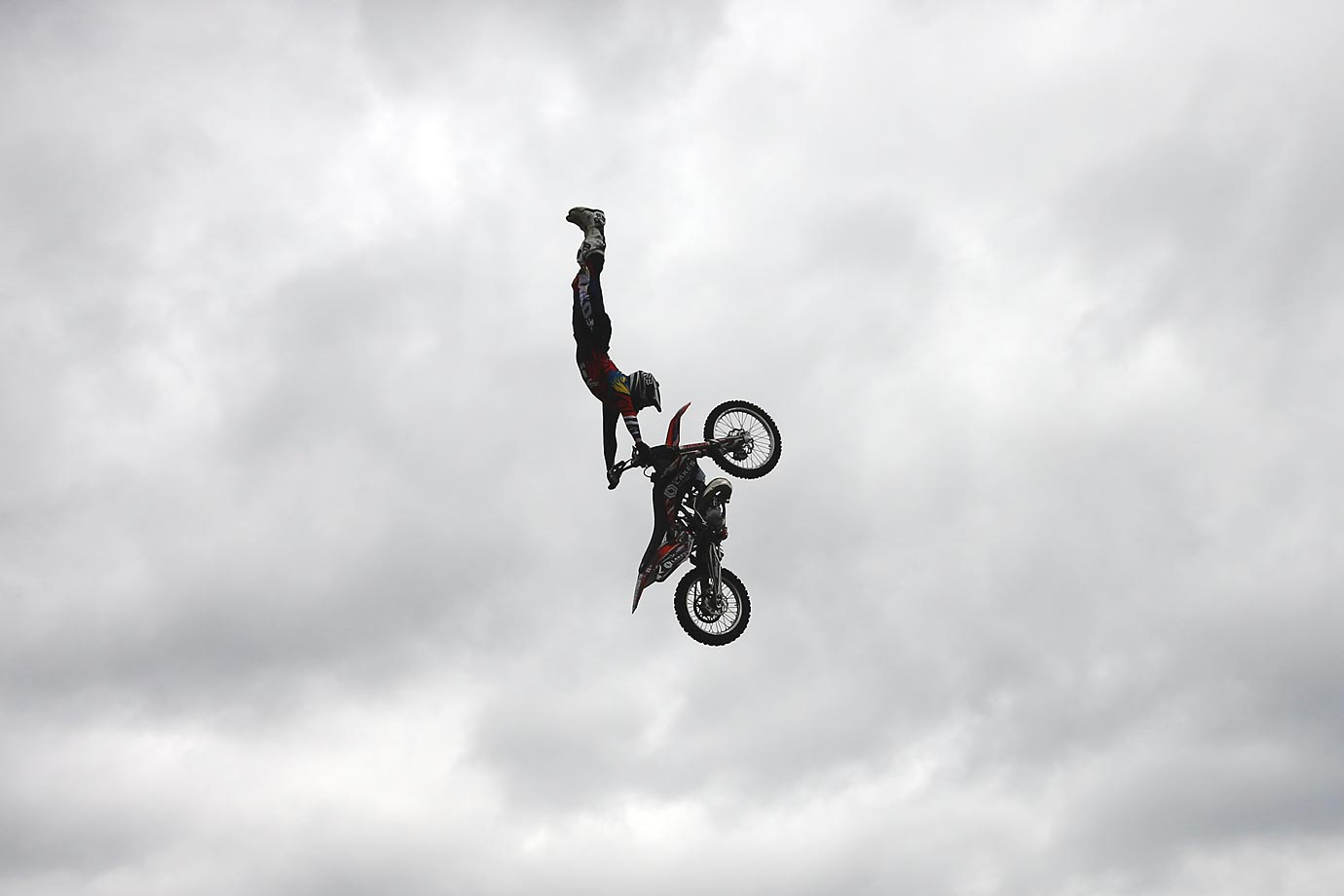 Motorcross rider Steve Sommerfeld executes a jump at the Night of the Jumps Freestyle MX World Championship event in London, England on June 2.