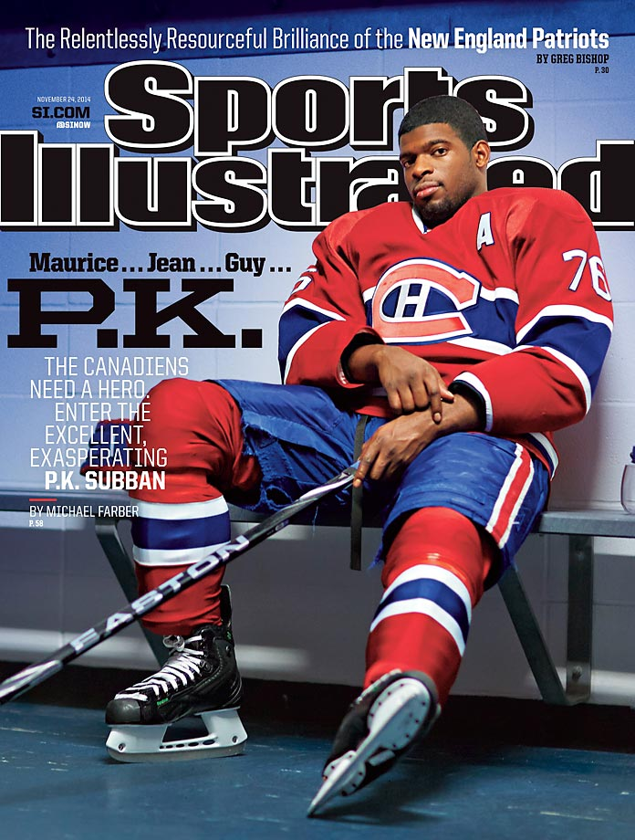 November 24, 2014 | One of the NHL's best defensemen, P.K. Subban of the Canadiens. hopes to help bring the Stanley Cup to Montreal for the first time since 1993.