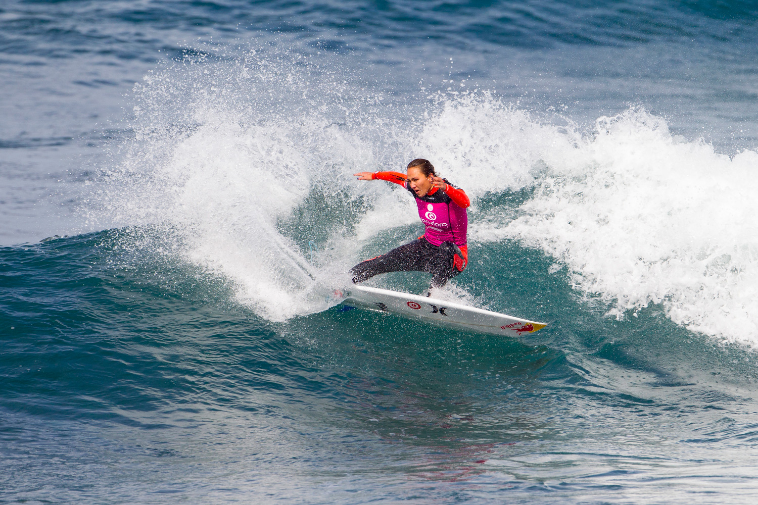 Carissa Moore of Hawaii surfs during Round 1.
