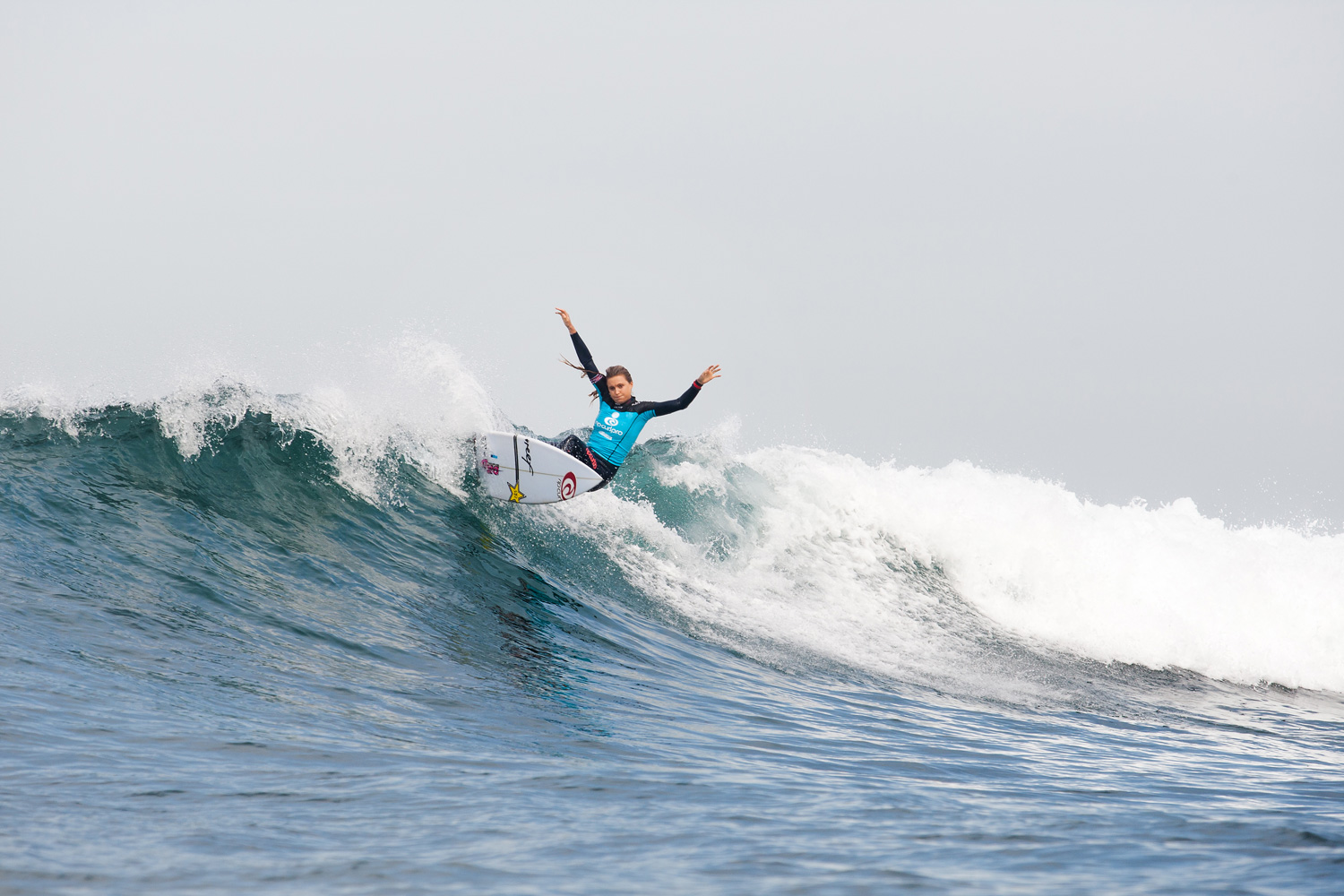 Alana Blanchard placed third in her first round heat on April 16, 2014 in Bells Beach, Australia.