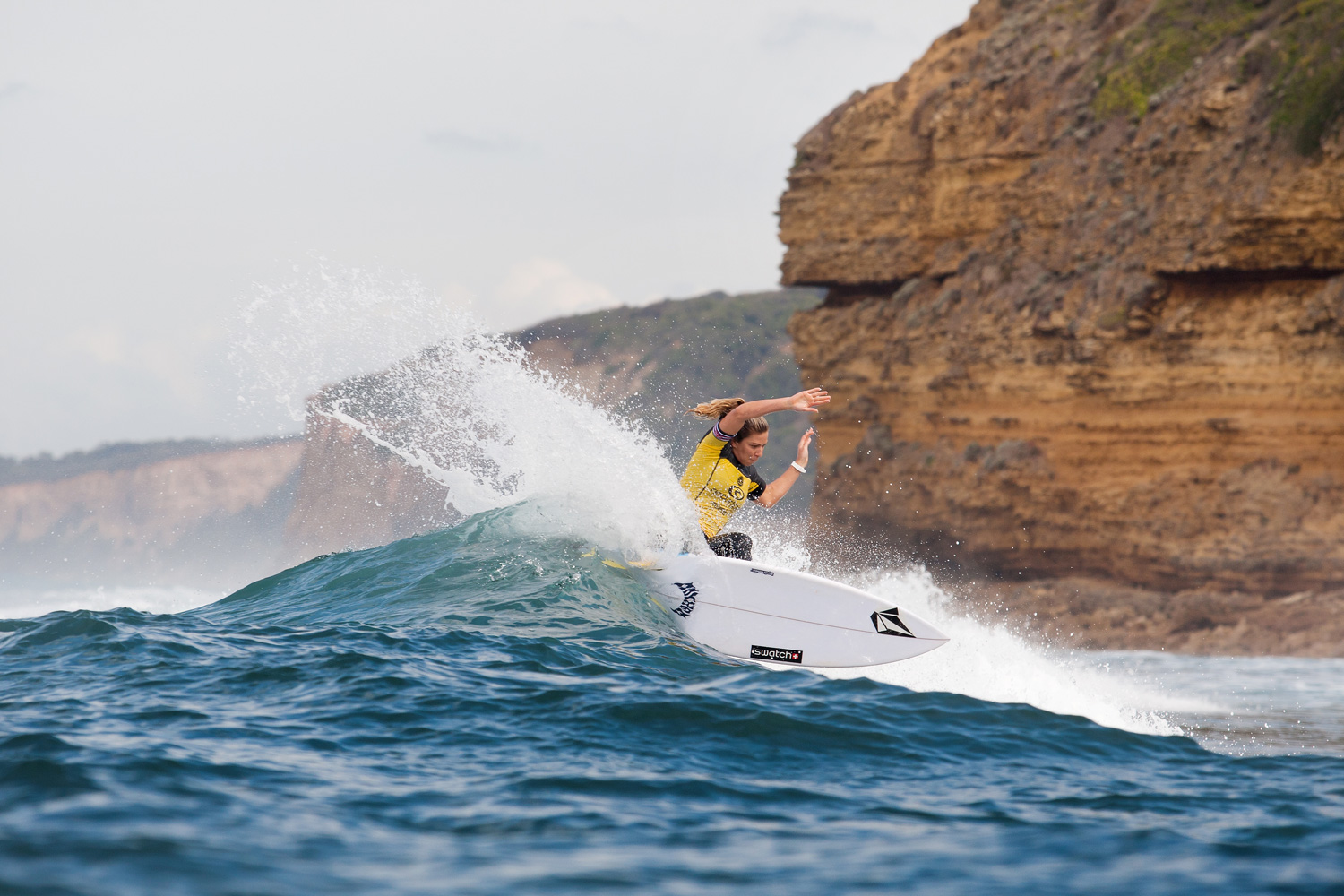 Coco Ho of Hawaii placed second in her first round heat on in Bells Beach, Australia.