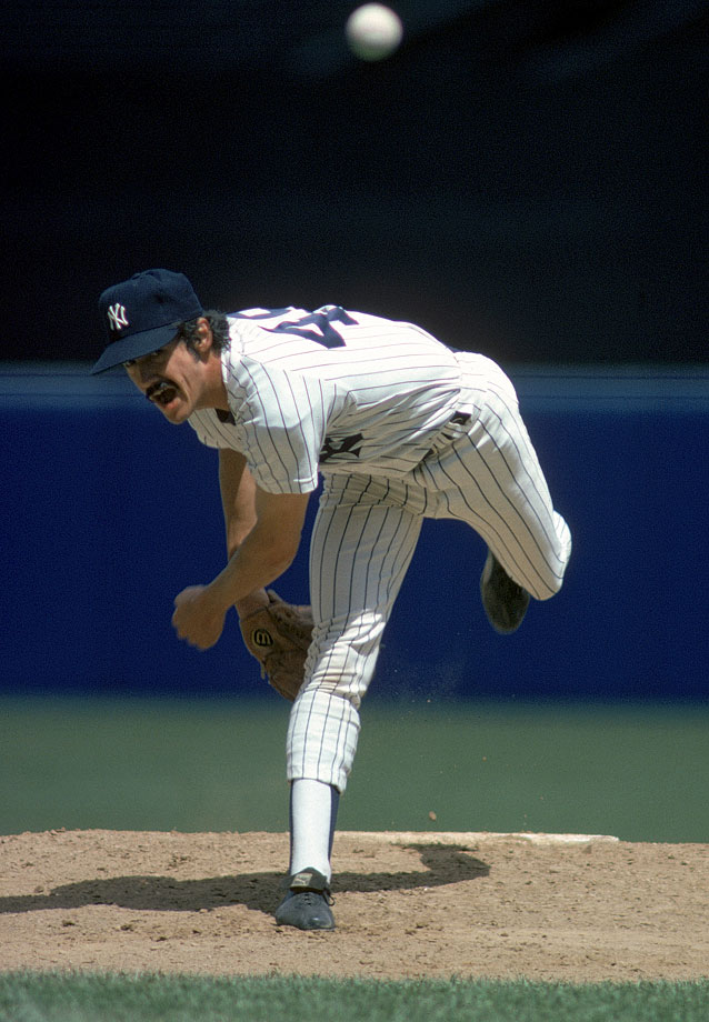 "Guidry was a key component of the Yankees' titles in 1977 and 1978. The latter was the best season of his career, as he went 25-3 and led the league in ERA (1.74), shutouts (nine) and strikeouts (248) in 273 2/3 innings. That effort won Guidry the Cy Young and landed him second in the MVP voting, finishing runner-up to Jim Rice. Nicknamed ""Louisiana Lightnin',"" Guidry spent all 14 of his major league seasons with the Yankees, winning 170 games and earning All-Star honors four times. He also served as the Yankees' pitching coach during the 2006 and 2007 seasons."